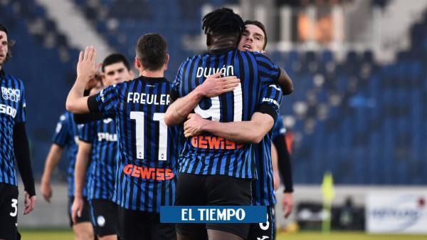Vea el doblete de Duván y el gol de Muriel en la goleada del Atalanta