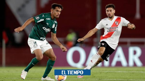 River sufre: dos fallas y dos goles de Palmeiras en la ida semifinal