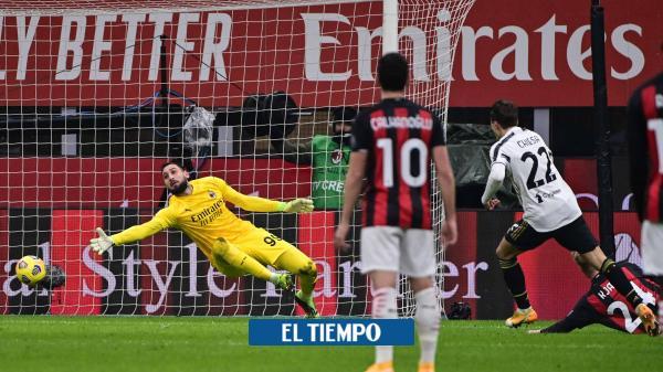 Duro golpe al mentón de Juventus al Milan