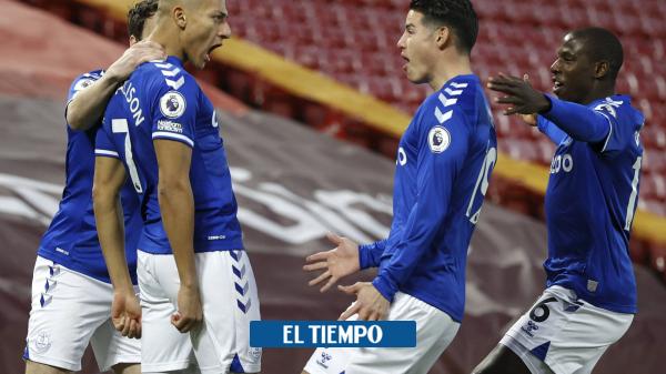 James y una asistencia exquisita para gol del Everton