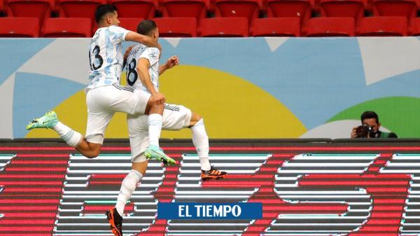 Vea el gol con el que Argentina le ganó a Uruguay en la Copa ...