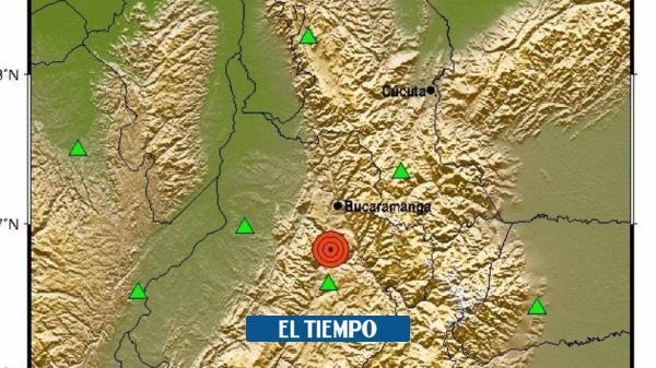 ¿Lo sintió? Reportan temblor de 4.3 grados en Santander