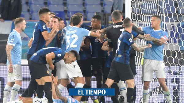 Lazio vs. Inter, golpe a golpe, así fue la batalla campal
