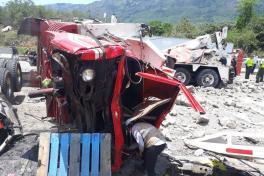 Fotos accidente Guaduas Cundinamarca 2018