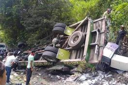 Accidente en vía Panamericana