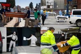 La penosa tarea de transportar los cuerpos de muertos por coronavirus