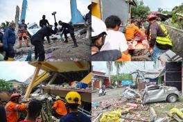 Tragedia en indonesia: fotos muestran destrucción total tras terremoto