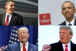 Collage Obama y Trump