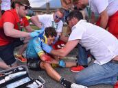 Miguel Ángel López sufrió caída en la Vuelta a Suiza