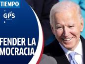 Joe Biden se pronuncia en defensa de la democracia