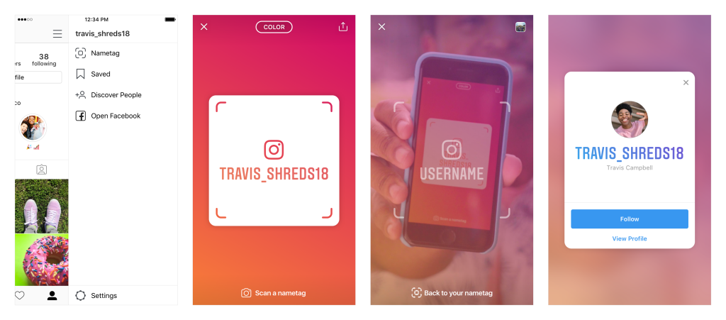 Nametag, Instagram ID Cards – Apps – Technology
