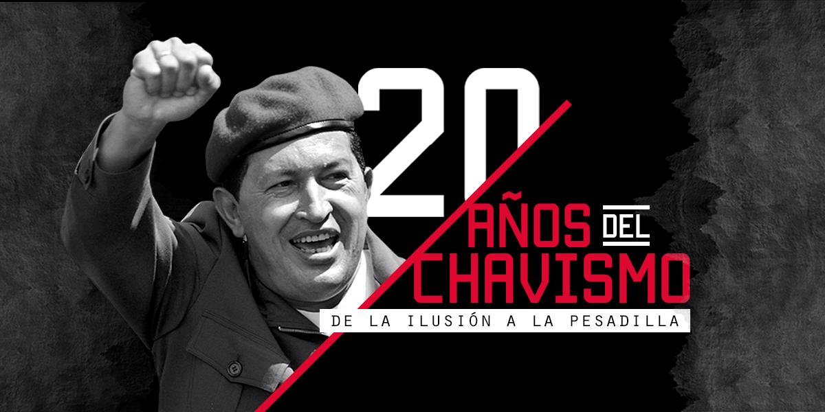 20 años del chavismo, la ilusión que se convirtió en pesadilla