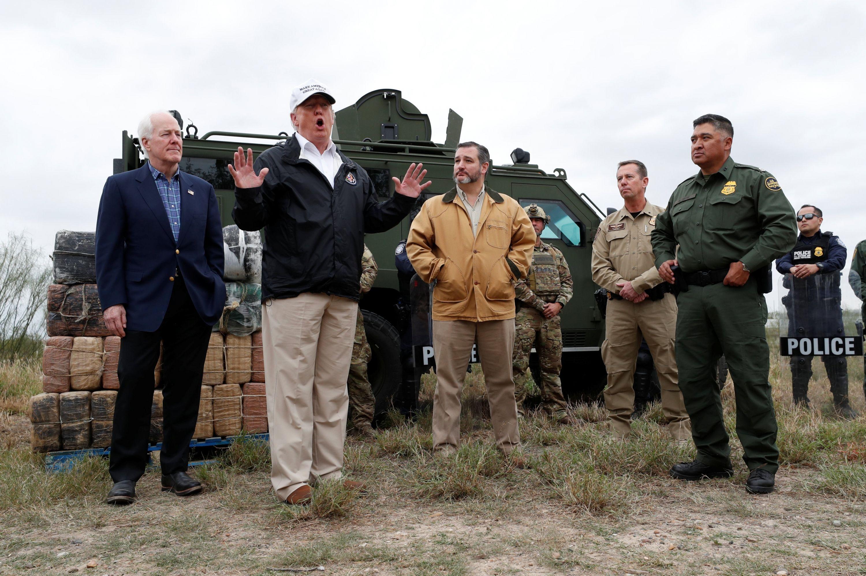 En la frontera, Trump reitera amenaza de declarar emergencia nacional