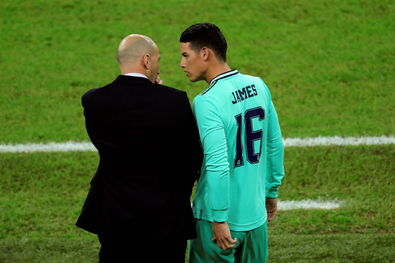 James fue convocado por Zidane para el partido Real Madrid contra ...